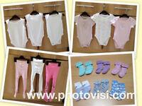 Girls age 18-24 months vest, tights and socks bundle