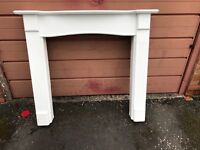MDF white fire surround for sale £40,very good condition