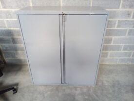 1100x1000x460mm two door steel cupboard in grey