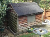 garden wooden shed 6' x 6'