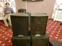 Martin Audio pa system speakers and power amplifier