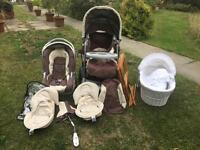 Gracco 3 in 1 buggy and Moses basket