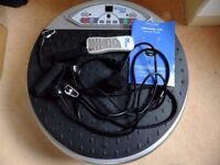 Vibra Power Disc2 vibrating plate exercise machine with resistance bands