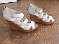 Sandals white wedges