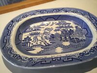 Willow pattern meat plate