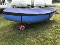Dinghy/tender with 2.5hp outboard motor and oars