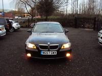 BMW 3 SERIES 318i ES 2.0 PETROL 4 DR SALOON BLACK 6 SPEED 2007 AUX EXTRAS F.S.H LONG MOT LADY OWNER