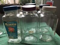 Vintage sweet shop jars
