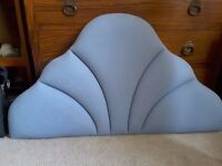Light blue single headboard