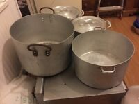 2 LARGE COOKING POTS IN USED CONDITION
