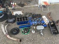 1600 gt ford crossflow engine stripped down with new high pressure oil pump and gasget set