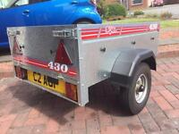 Trailer / Caddy / Erde / Caddy 430 trailer as new! / spare wheel & cover
