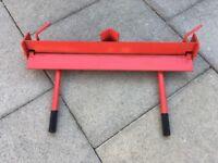 Clarke strong arm bench mounted sheet metal folder