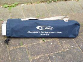 Gelert Aluminium Backpacker Table and Carry case - FUT152