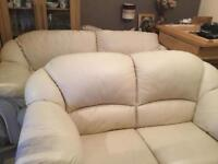 Leather Three Seater and a Two seater