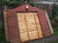 shed 10 x 8 foot double doors already dismantled