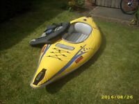 Advanced Elements Firefly Inflatable Kayak Used Twice easy To Use Inflates In 10 Mins May Deliver