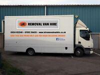 Van Hire - Large furniture van WITH DRIVER! - LA1 Removal Van Hire