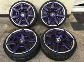 20' genuine bentleys split alloy wheels with like new tyres