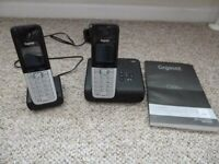 Siemans Gigaset Black C300H/C300A Answerphone base and extention