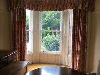 Set Curtains and valance (4 individual curtains) - as pictured.