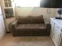May Fit in Car - Compact small brown sofa bed
