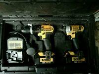 Dewalt cordless drill and impact driver set