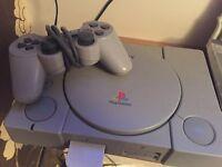 PlayStation 1 (Ps1), with Crash Bandicoot game