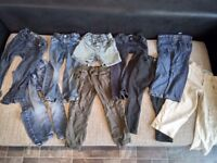 Bundle of boy's jeans/trousers/shorts age 4-5
