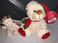 New Christmas Teddy Bear & Christmas Giraffe Keyring IP1