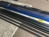 MINT Team Daiwa ZR1 11m Competition Fishing Pole & Top Kit, Cupping Kit & Bag