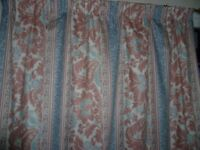 Curtains-lined 2 pairs