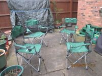 Folding garden/camping chairs set of 4