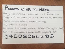 Rooms to let! (Woking)