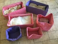 Storage bags with handles, made in Italy