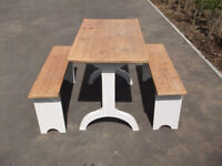 Craft Table & Two Benches