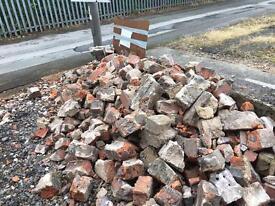 Victorian bricks half bricks and bagged rubble