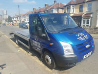FORD TRANSIT RECOVERY TRUCK BEAVER TAIL FLAT BED 350 2.4 DIESEL 191K MILES EXCELLENT CONDITION LWB