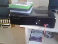 Xbox 360 with HDMI cable,power cable, controller and FREE games