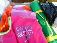 Girls swim vests swim aid float £3 each