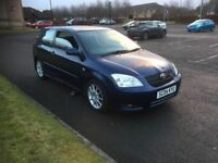 2004 TOYOTA COROLLA T-SPORT 1.8 VVTI LOW MILEAGE SERVICE HISTORY RELIABLE CAR PX WELCOME £1195