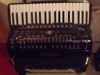 victoria piano accordion 120 bass musette 11 treble and 7 bass couplers scottish tuned