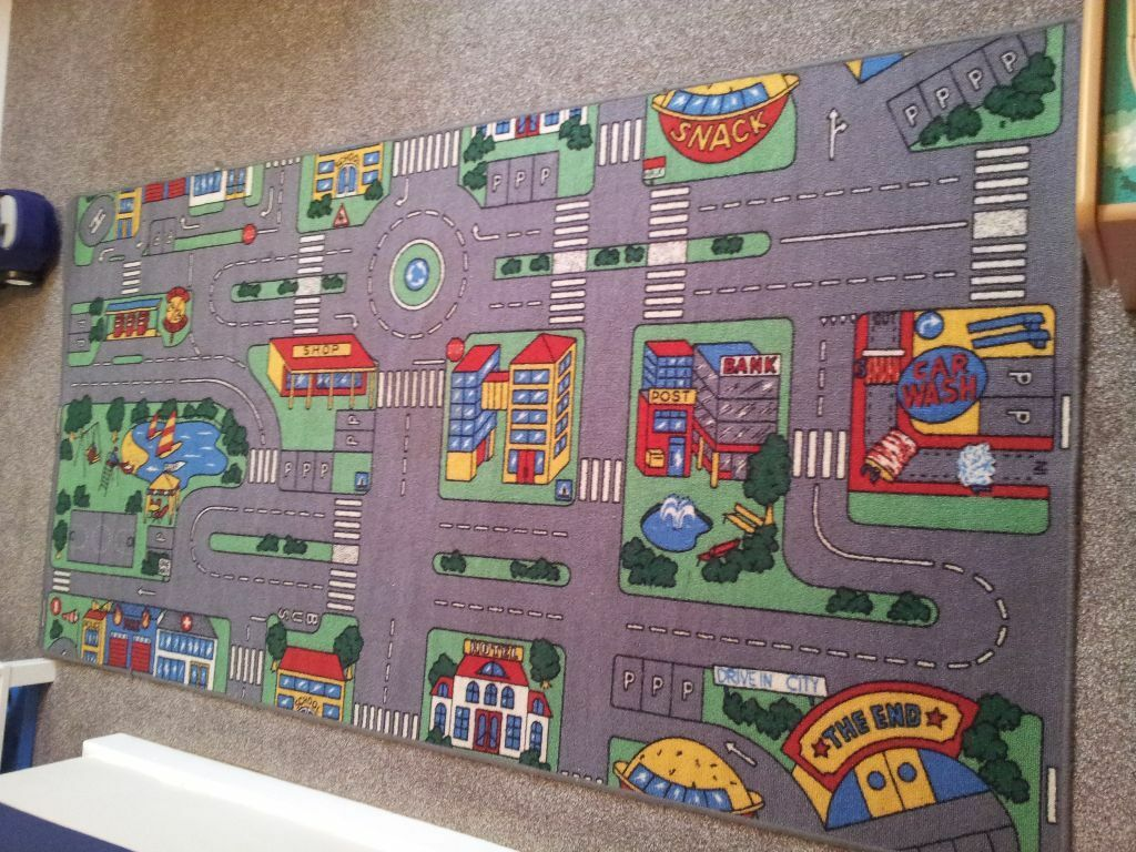 Kids Car Play Mat Carpet Rug For Sale Toys Road Map Role