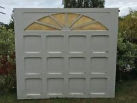 FREE - COLLECTION ONLY - Fibre Glass Garage Door in good condition with spring and attachments