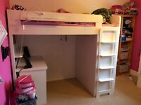 ASPACE Farringdon high sleeper bed with wardrobe and desk - reduced price