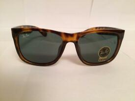 RayBan Justin Sunglasses RB4165 (tortoiseshell brown frame)