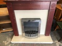 Electric fire & surround complete