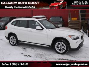 2012 BMW X1 xDrive28i AWD / LEATHER / PANORAMIC ROOF