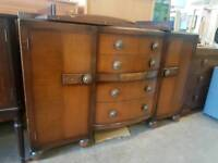 Vintage sideboard and four drawers