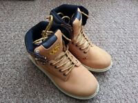 Leather Safety Shoes - Size 3 - honey colour - Industrial Footwear